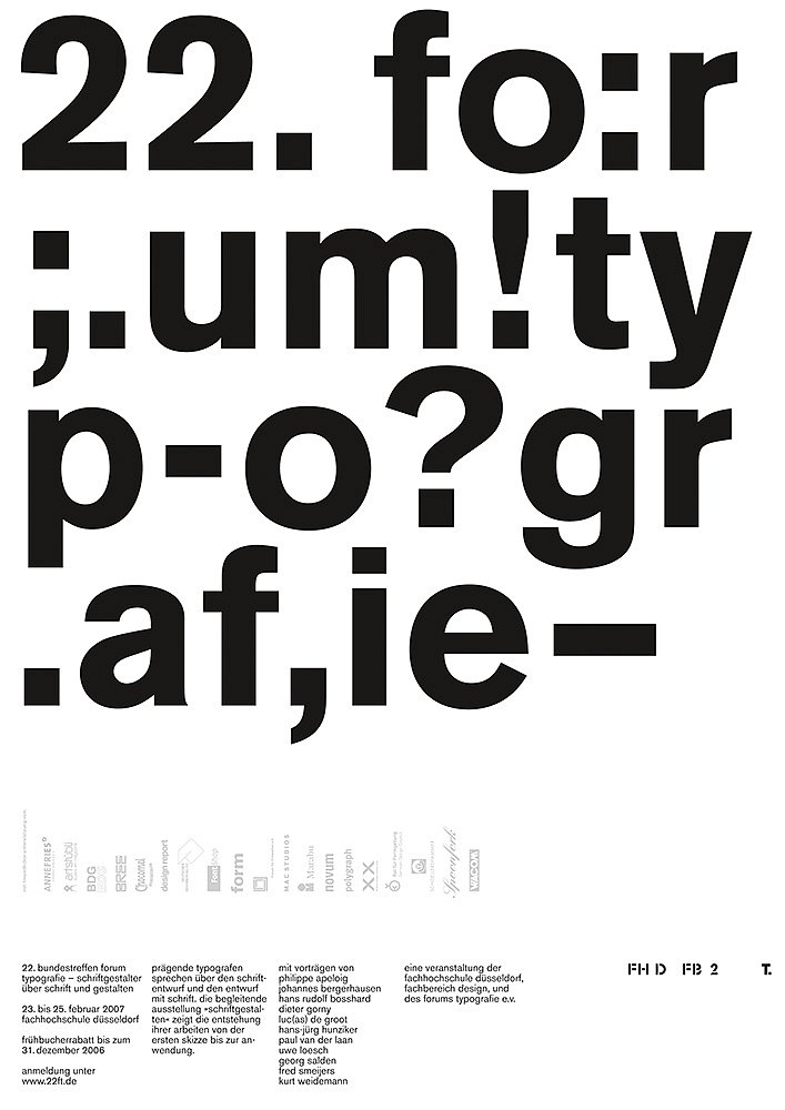 22. forum typografie