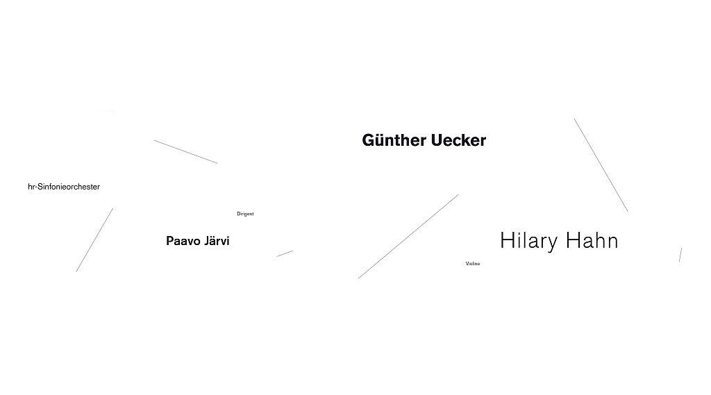 kunst+konzert, günther uecker – hilary hahn