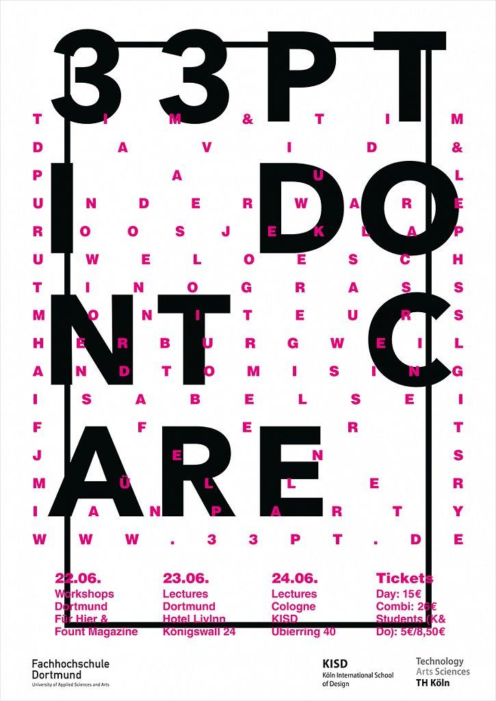 33pt, das fest für typografie, grafik und gestaltung